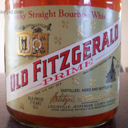 old_fitzgerald_prime_bourbon_7_year_86_proof_half_gallon_1970_front_label