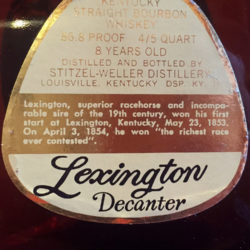 old_fitzgerald_prime_lexington_decanter_1968_back_label
