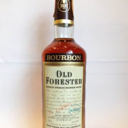 old forester bourbon 80proof 1977 front