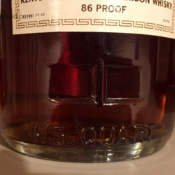 old_forester_86_proof_bourbon_1973_detail