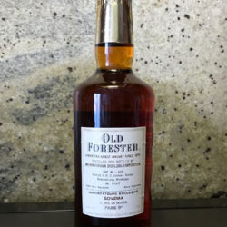 old_forester_86_proof_bourbon_french_export_early_70s_back