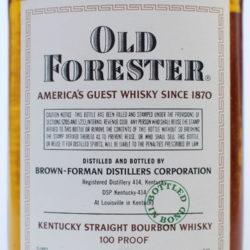 old_forester_bonded_half_pint_1956_1962_back_label