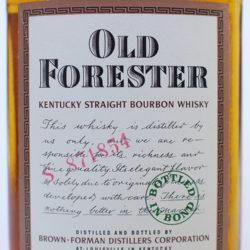 old_forester_bonded_half_pint_1956_1962_front_label