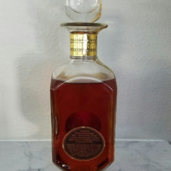 old_forester_bourbon_bonded_decanter_1964_1969_back