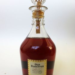 old forester decanter bonded bourbon 1965 front