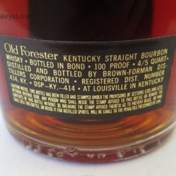 old_forester_decanter_bonded_1965_label