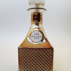 old forester decanter bonded bourbon 1968 front