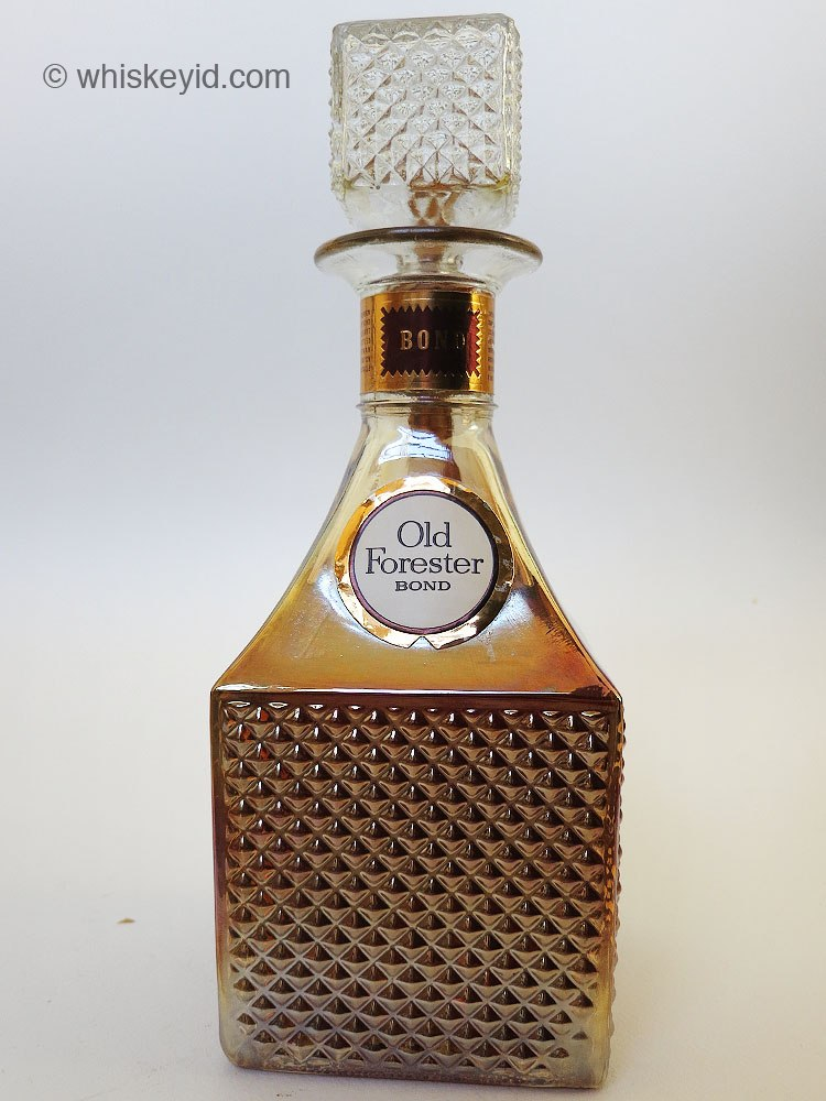 Old Forester Decanter Bonded 1968 Front