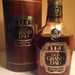 old grand dad 114 bourbon 1982 front