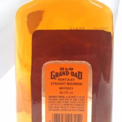 old grand dad 86 proof bourbon 1989 - back