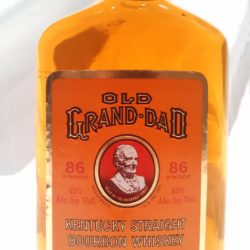 old grand dad 86 proof bourbon 1989 - front