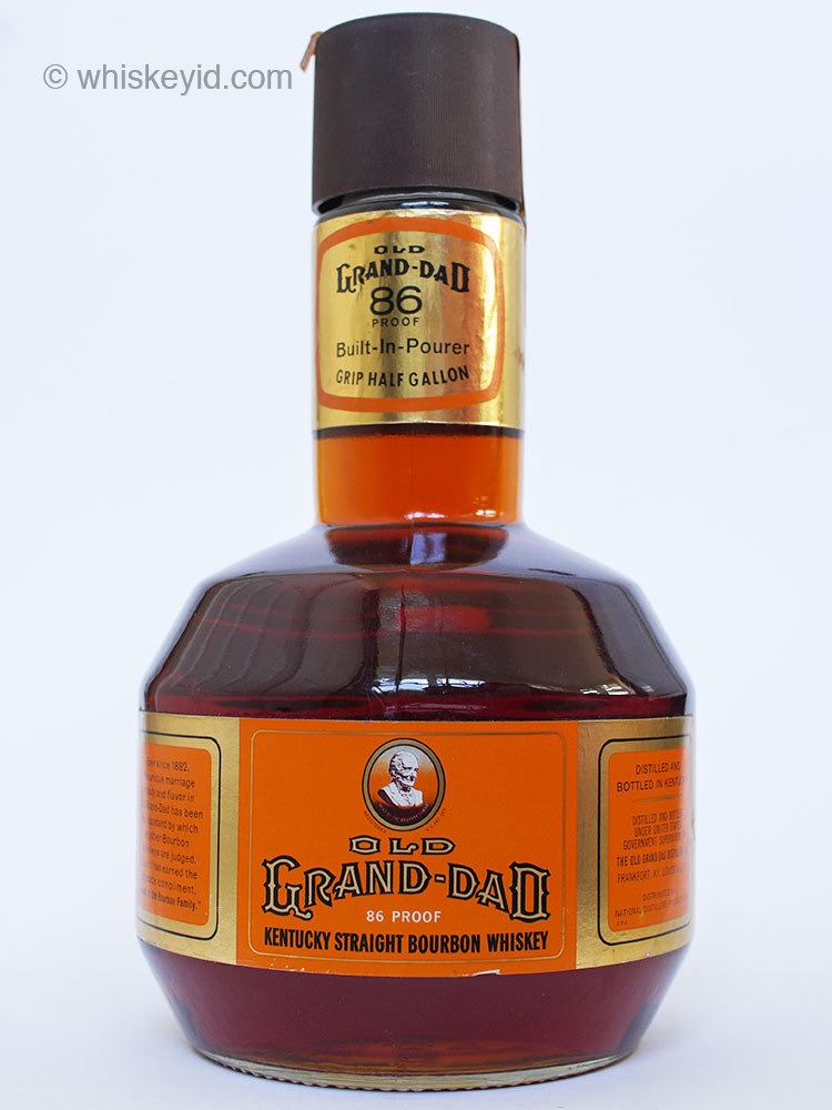 old_grand_dad_86_proof_bourbon_half_gallon_1974_front