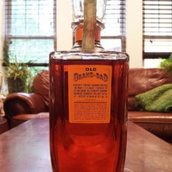 old grand dad bonded bourbon decanter 1961 back