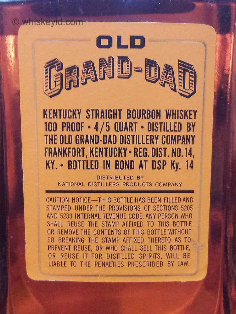 old_grand_dad_bonded_decanter_1961_back_label