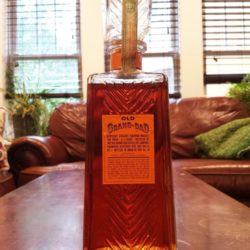old grand dad bourbon bonded decanter 1962 back