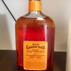 old grand dad bonded bourbon pint 1961 back