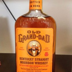 old grand dad bonded bourbon pint 1961 front
