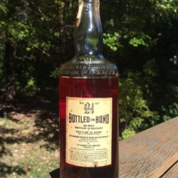 old joe 21 brands bonded bourbon 1952 back