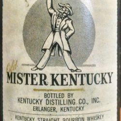 old mister kentucky bourbon back label