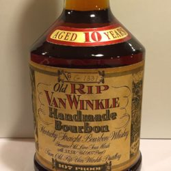 old rip van winkle 10 year 107 proof bourbon 1989 front label