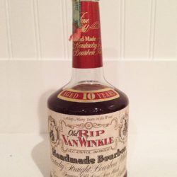 old rip van winkle 10 year 90 proof bourbon 2000 - front