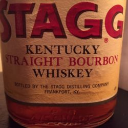 old_stagg_bourbon_8_year_80_proof_1966_label