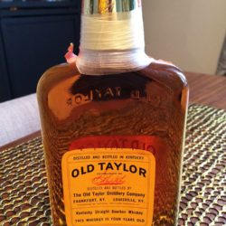 old taylor 4 year 86 proof bouron 1973 back
