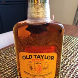 old taylor 4 year 86 proof bouron 1973 front