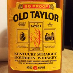 old_taylor_6yr_86_proof_500ml_bourbon_1982_front_label