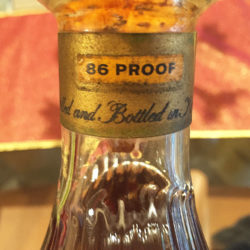 old_taylor_86_proof_bourbon_decanter_export_1964_neck