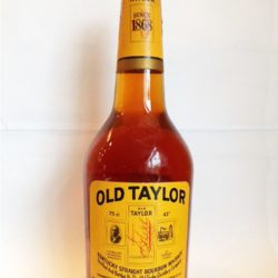 old taylor bourbon 86proof 1973 front