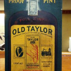 old taylor bonded bourbon 1933 - box
