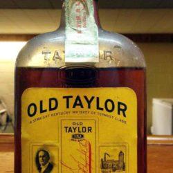 old taylor bonded bourbon 1933 - front