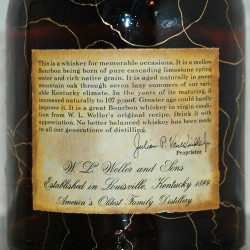 old weller original bourbon 107 proof 1972 back