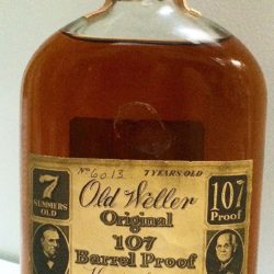 old weller original 107 proof 7 year bourbon - front