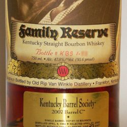 pappy van winkle 23 year kentucky barrel society single barrel - front label