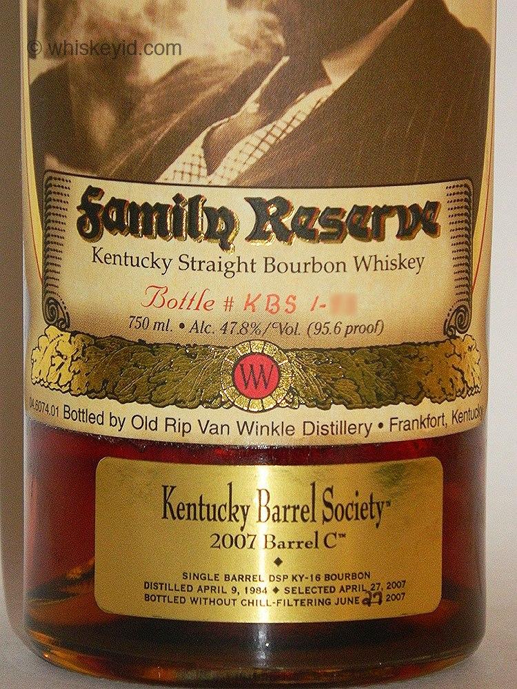 pappy van winkle 23 year kentucky barrel society single barrel - front label