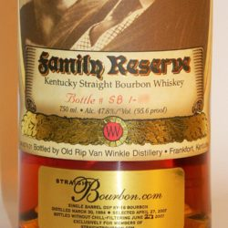 pappy van winkle 23 year straightbourbon.com single barrel 1 - front label
