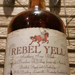 rebel yell bourbon half gallon 1970 front