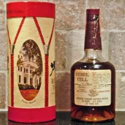 rebel yell bourbon with drum box 1973 back