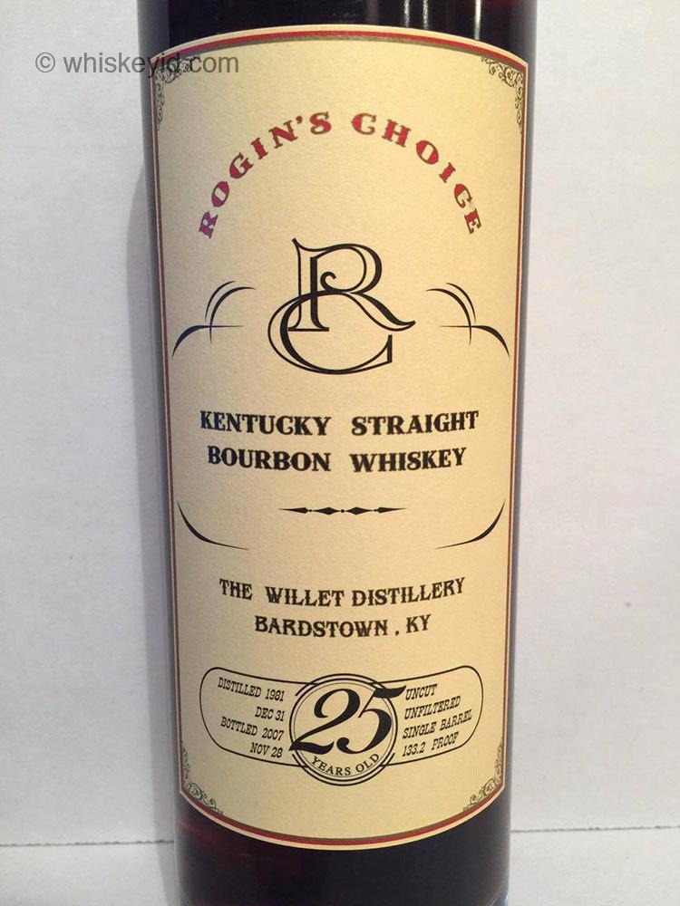 rogins_choice_willett_25_year_bourbon_front_label