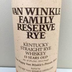 van_winkle_family_reserve_rye_no_letter_1998_front_label