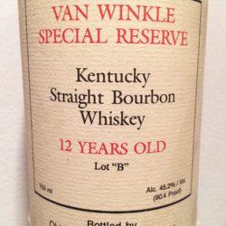 van winkle 12 year lot b 1991 - front label