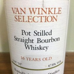 "van winkle selection bourbon - 16 year lot ""h"" - front label"
