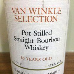 "van winkle selection bourbon - 16 year lot ""h"" - front label"