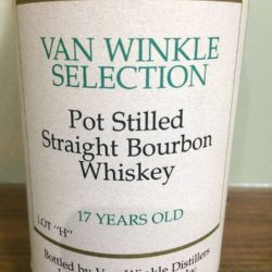 "van winkle selection bourbon - 17 year lot ""h"" - front label"