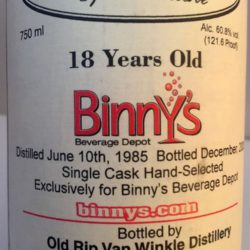van_winkle_special_reserve_bourbon_18_year_binnys_single_barrel_label_detail