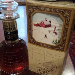 very old barton bourbon 8 year bonded decanter box