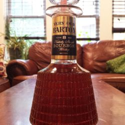 very old barton bourbon 8 year bonded decanter front
