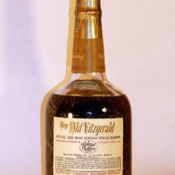 very old fitzgerald 10 year bourbon 1960 - back